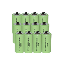 12PCS UNITEK Sub C sc 1.2V rechargeable battery 2200mah ni-mh nimh cell with welding tab pins for power tools,vacuum cleaner