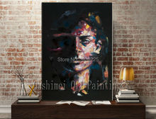 man face painting famous painter face paint modern art paintings art painting on canvas for sale wall art decor for home decor(China)