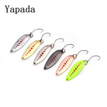 6pcs/lot Yapada fishing spoon 2g/33mm 3g/38mm isca artificial carp megabass bait BKK hooks ice fishing tackles free shipping