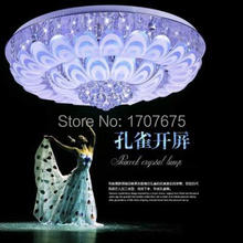 fashion round pavan crystal ceiling lights for living room bed room restaurant(China)
