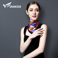 [VIANOSI] 2017 New Arrival Square Silk Scarf Women High Quality Silk Satin Scarves Fashion Hijab Brand Bandana VA115