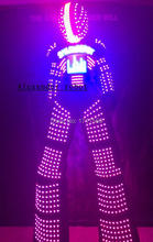 LED Costume /LED Clothing/LED Light suits/ LED Robot suits/The chest video, Helmet programming/ Alexander robot suit