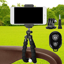 Gosear Mount Tripod Legs Stand Camera Bracket Holder Bluetooth Self-portrait Device Accessory Set for iPhone 7 7 Plus 6 6S