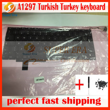 10pcs/lot new original for macbook pro 17'' A1297 turkey turkish TR TY keyboard without backlight backlit 2009 2010 2011year(China)