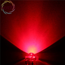 High Quality 20 pcs LED 5MM Piranha Red Super Flux Leds 4 pin Dome Wide Angle Super Bright Light Lamp For Car Light HOT SALE