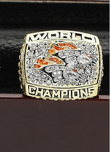 Copper solid rings 1998 Denver Broncos Replica Super Bowl Championship Rings With Wooden Boxes,Size 10-13(China)