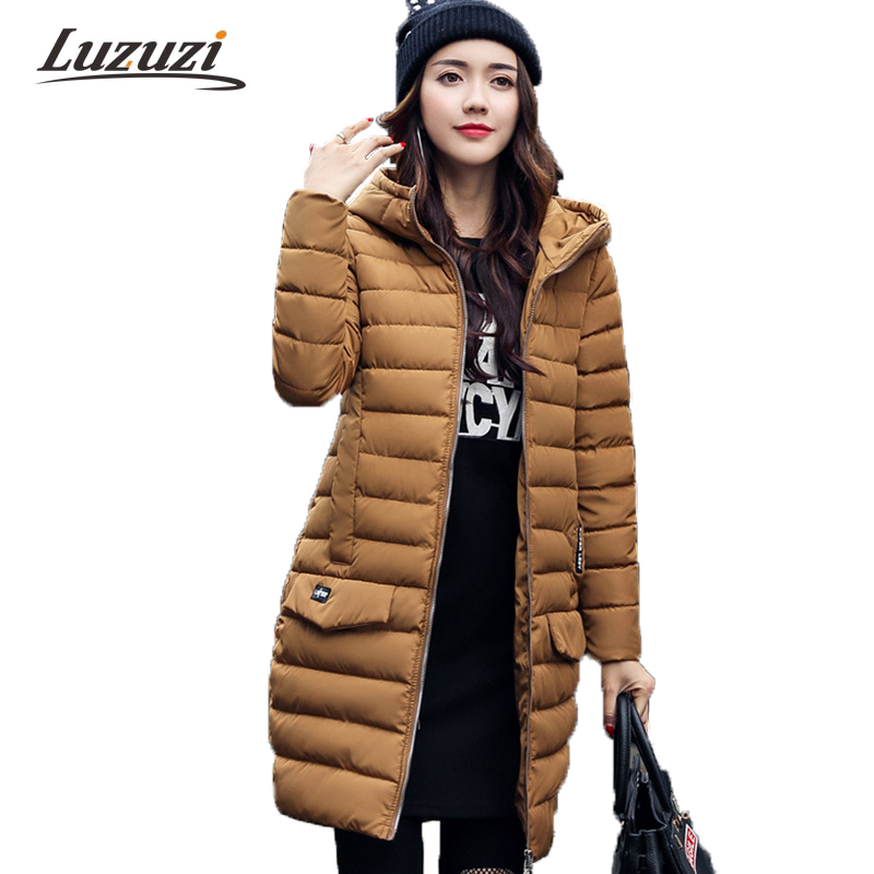 2017 Winter Coats Women Winter Jackets Hooded Long Female Warm Parkas Ladies Solid Coat abrigos mujer invierno jaqueta W1223Îäåæäà è àêñåññóàðû<br><br>