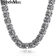 Buy Trendsmax Stainless Steel Byzantine Link Silver Color Gold-color Necklace Mens Chain Boy Wholesale Jewelry KNM101 for $9.98 in AliExpress store