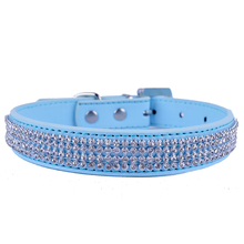 10pcs Fashion Leather Dog Collar Brand Rhinestones Accessories Collar For Dogs Rhinestone Buckle Pet Supplies