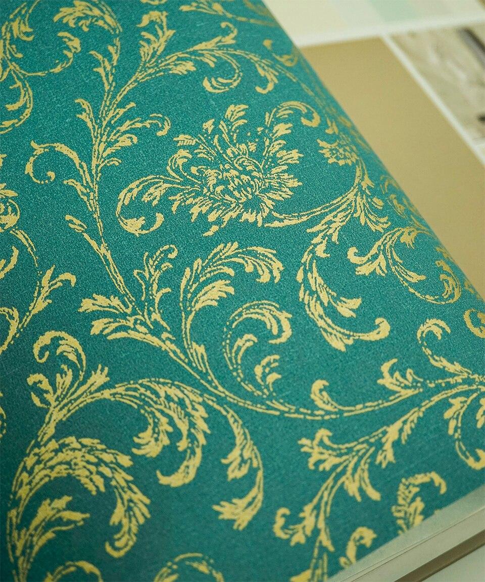Royal  Gold Leaves Florals Wallpaper Roll tapeten vintage blumenmuster<br>