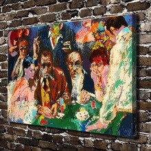 A1815 LeRoy Neiman Abstract Gambling Men Women. HD Canvas Print Home decoration Living Room bedroom Wall pictures Art painting(China)