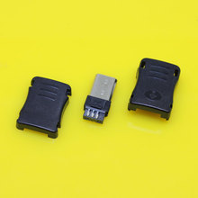Ma-005   3 in 1 weldable Micro Male USB plug, weldable Micro USB male Connector repair digital product,long size