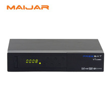 original 1080p full hd FTA receiver FREESAT V7 combo dvb-s2+t2 combo receiver support bisskey powervu CAS and usb wifi cccam