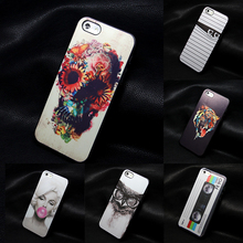hard black For iphone 4 4s 5 5S SE cases new design Flowers Skull cell phone cute Skull caso back case for iphone4 4s