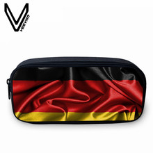 VEEVANV Casual Design UK US CA Flag Printing Case Large Capacity Box Case Stationery Stroage Organizer Bag School Office Supply