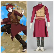 Free Shipping 2017 Anime Product Top Selling NARUTO Anime Cosplay Sabaku No Gaara Brown Tan Vest Costume Halloween