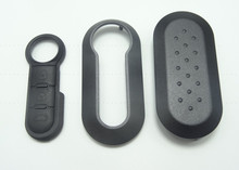 key cover for Fiat 500 Panda Punto Bravo key cover  with key 3 Button Rubber Pad