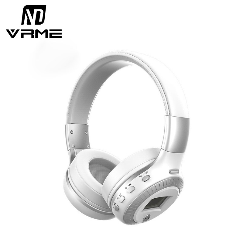 Wireless Bluetooth Headphones Sport Stereo Earphone LCD Display Headset Hands Free Support TF Card with Microphone for iPhone 7 <br>