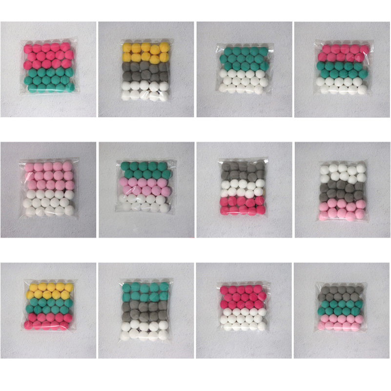 DIY-30pcs-Wool-Felt-Ball-2cm-Kids-Room-Decorative-Balls-Baby-Tent-Ornament-Hanging-Birthday-Gift