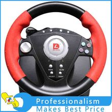 P3-808 computer game racing steering wheels and pedals with hand brake gear suction / vibration high quality