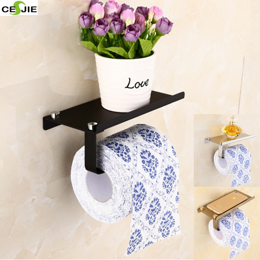 Wholesale And Retail Promotion Wall Mounted Bathroom Shower Tolite Paper Holder Rack Bathroom Accessories<br><br>Aliexpress