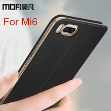 Xiaomi mi6 case cover Xiaomi mi 6 back cover leather accessories protective phone capas MOFi original xiaomi mi6 flip case 5.15(China)