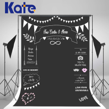 Kate Custom Wedding Blackboard Name Date Photocall Photography Studio Wedding Background Photo Chalk Backdrop Invite Signature