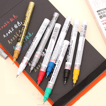 2pcs Sipa oil paint marker permanent waterproof metal fabric cd glass tire pen silver black white gold extra fine 0.7mm marker