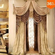 Most Gold punch ring rod stick pole classical curtains curtains for windows extreme luxury drapes finish Curtains for bedroom(China)