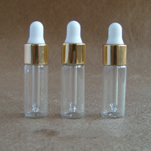 100pcs hot sale 5ml clear round essential oil glass bottle,glass 5ml dropper bottle,mini glass sample 5ml cosmetic container