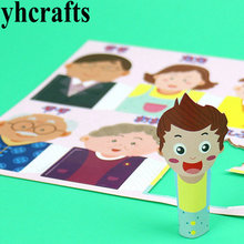 30PCS(5sheets).LOT,A six family finger puppet,Early educational toy,Fantastic toy,Promotion cheap.Family fun.Kindergarten crafts(China)