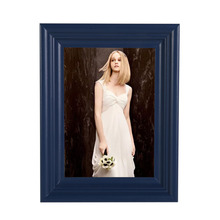 High Quality Blue Photo Frames Online Personalized Creative Wooden Picture Frames Various Sizes Cheap Vintage Picture Frames(China)