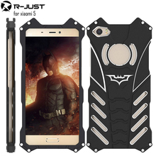 Big Discount Luxury R-just Design Metal Aluminum Armor THOR Batman Phone Cases for Xiaomi MI5+Housing Cover