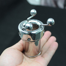 Buy Stainless Steel Male Chastity Device Scrotum Pendant Chastity Lock Penis Cage Chastity Cage Lover Toys Penis Ring B2-2-121