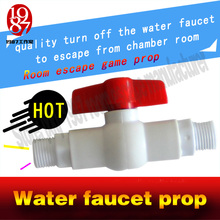 room escape game prop  water faucet prop  close or Turn off the unreal beeping taps or water gate to unlock escape secret room