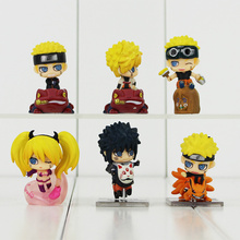 5cm 6Pcs/Lot Q Version Naruto Sasuke Yondaime Minato Kyuubi Kurama Naruko PVC Action Figure Collection Model Toy For Kids(China)