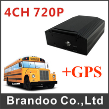 AHD 4CH HDD SD Card Mobile DVR MDVR For Thai Bus Train Truck With GPS Function