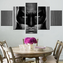 Hero Cool Batman Poster for Bedroom Decor Wall Art Work 5PCS Modular High Quality Pictures Canvas Oil Painting Unframed