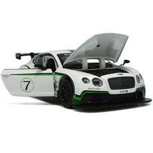 Hot Sale LIFE 1:32 Bentley continental GT3 alloy models Cars Models Kids Toys Metal Luxurious Diecasts Vehicles Roadster Models(China)