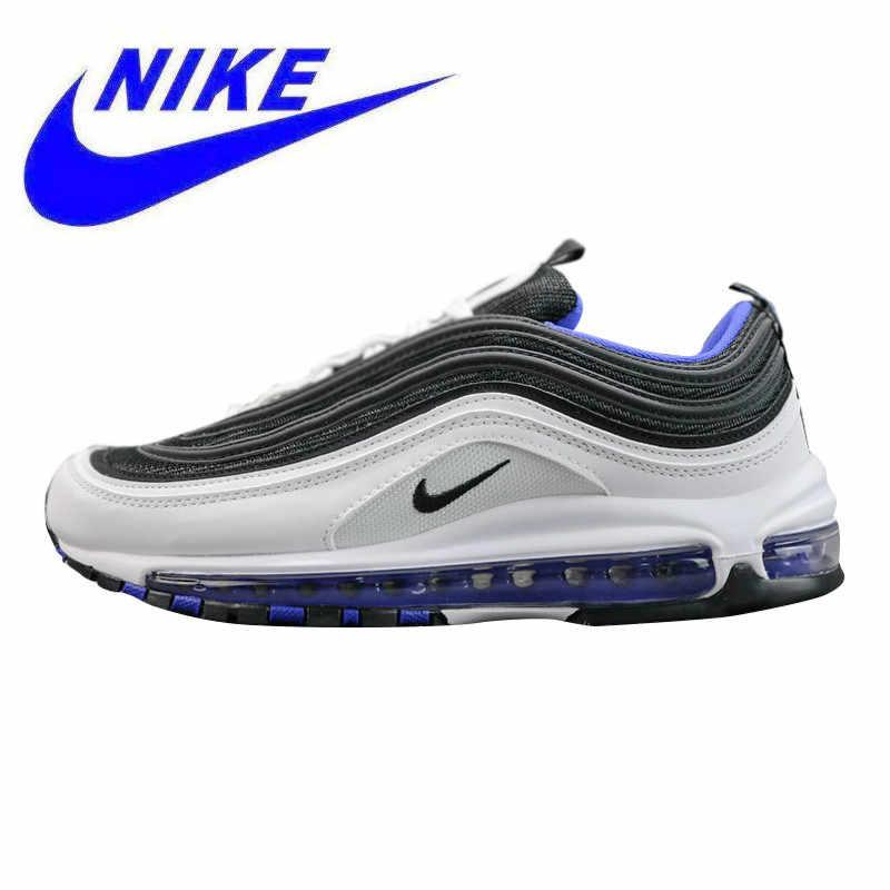 new concept e91f4 8e412 Original Nike Air Max 97 OG Men's Running Shoes, Black & White / Green,