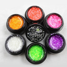 8ML Christmas Snowflake UV Nail Gel Polish Shiny Glitter Nail Gel Soak Off Sequins Gel Lacquer Long Lasting Gel