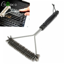Non-stick Barbecue Grill BBQ Brush Stainless Steel Wire Bristles Cleaning Brushes With Handle New Cooking BBQ Tool Supplies