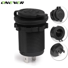 Onever DC 12V Car Motorcycle Cigarette Lighter Socket Waterproof Power Socket Plug Outlet Motorcycle Car Boat Tractor Accessory(China)