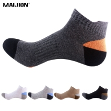MAIJION 4 Pairs Men Cotton Sports Socks Absorb Sweat Deodorant Athletic Basketball Running Socks Outdoor Climbing Cycling Socks(China)