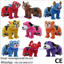 Walking Stuffed Bears Dog Animal Ride On Toy Electric Coin Operated Animal Ride