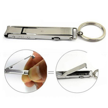 New Arrival Ultra Slim Small Foldable Stainless Steel Nail Clippers Keychain EDC Pocket Tool Free Shipping(China)