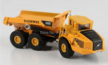 Volvo Dump truck model scale 1:87 ABS Alloy Diecast car 6 wheels manual tip cart truck model collection toys