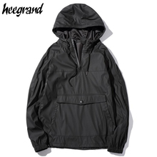 HEE GRAND Men Windbreaker Jackets 2017 New Fashion Men's Jacket Spring Waterproof Hooded Hip Hop Jackets Oversize M-5XL  MWJ2360