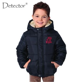 Detector 2016 deportes masculinos chaqueta al aire libre a prueba de viento de los niños del cabrito de la capa ropa de abrigo de invierno
