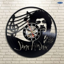 Jimi Hendrix Decor Vinyl Record Clock Wall Art Home Design la crosse